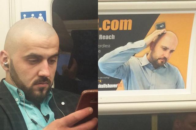 画像1: 電車やバスに乗ってボーっとしている時、目の前にいるのが有名人だと気付いたらどうする? 一緒に写真を撮ってもらう、サインをもらう、「プライベートだから」と遠慮しつつも素知らぬ振りをしてチラ見を繰り返す...なんて場合もあるだろう。 ポールさんという男性も最近、地下鉄の車内で有名人を目撃した。 目の前の席に座る男性こそ、これまで何度も目にしてきたはずの有名人だと気付いた時の、彼の驚きと興奮は察するに余りある。 ポールさんが見かけたスターがこちら▼ 座席でスマートフォンをいじっているこちらの男性。 頭上にあるシェーバーの広告の男性とそっくりだ! 同一人物か...?と見まごうほどによく似ている。 ポールさんがこうつぶやくのも当然だろう。 Fuck, [...] irorio.jp