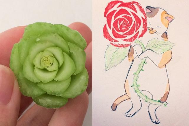 画像1: カットした小松菜の根元を「スタンプ」にしたアイデアがステキすぎると、Twitterで話題になっています。 小松菜の根元の断面を見たら...。 この画像を投稿しているのは、よう(@yo_yo_yo_u)さん。 小松菜を切った根元が薔薇に似てるので、スタンプしました pic.twitter.com/oh987HZ3f9 — よう (@yo_yo_yo_u) 2017年6月10日 ある日、小松菜の根元をカットした断面を見てみたところ...。 「バラ」に見えたようさんは、小松菜の根元を「スタンプ」してみることにしたんだとか。 まずは小松菜の根元を紙にスタンプしてから、猫のイラストを描き加えたそうです。 「スタンプ」とイラストを組み合わせただけで、簡 [...] irorio.jp