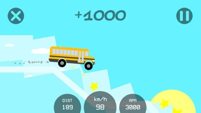 画像: ほのぼのグラフィックでまったり♩ シンプルなカーアクションゲームアプリ『Physics Overdrive』