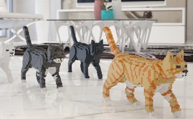 """画像: 猫好きさん必見!どこでもニャンコと一緒にいられる""""猫レゴ""""がカワイイ♡"""