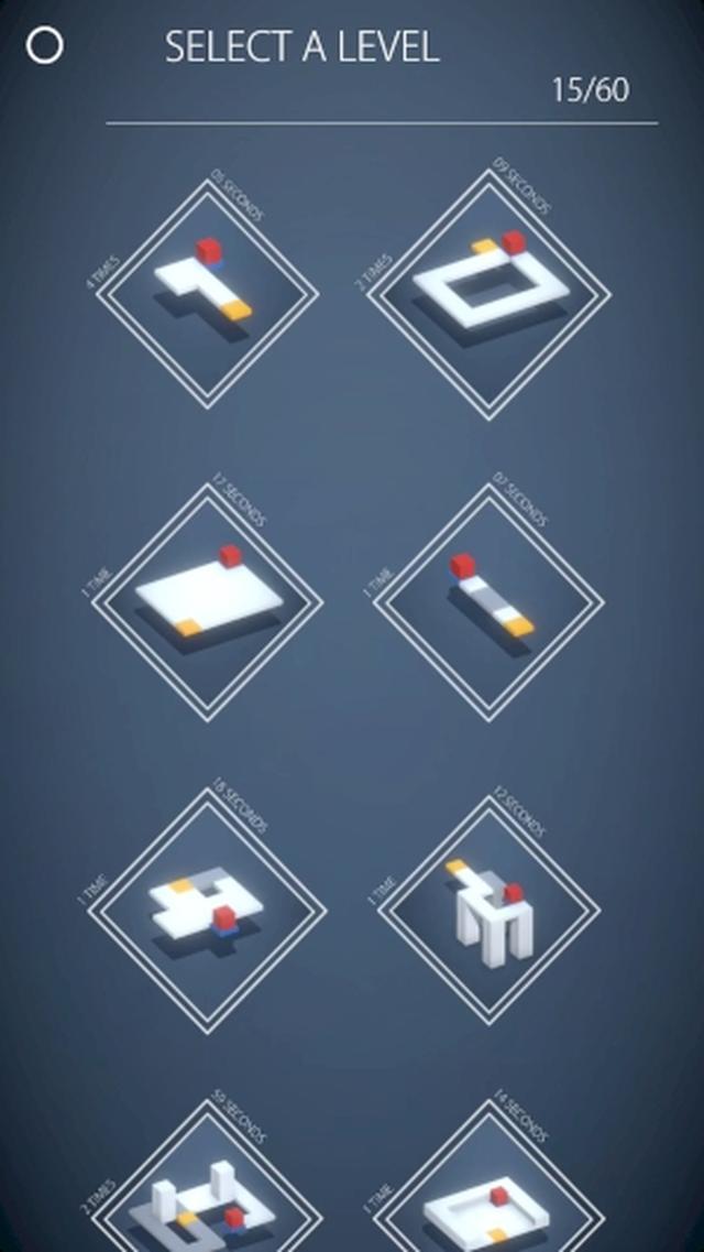 画像: シンプルなデザインと癒し系サウンドでリラックス♩ちょっと変わった3D一筆書きパズルアプリ『Cubiques』