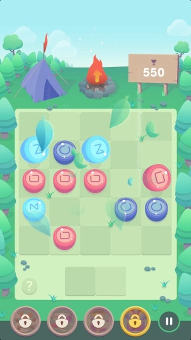 画像: 風を使ってジェムを飛ばそう!新感覚のマッチ3パズルゲームアプリ『Windin』