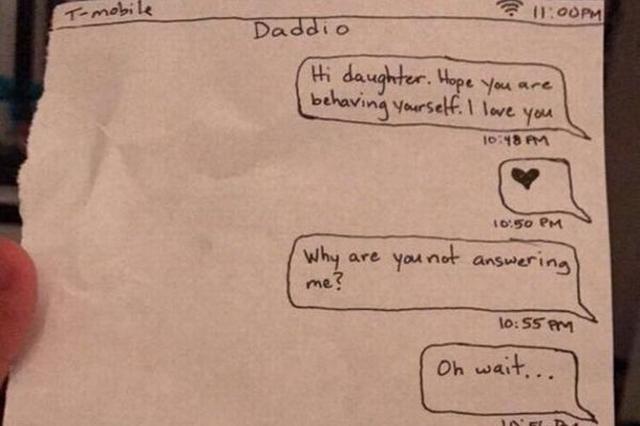 画像1: 男親は娘に甘い。 ここにも年頃の娘に手を焼き、その機嫌を取ろうと必死なパパが1人。 海外版掲示板Redditに投稿された、パパから娘へのメモ書きが注目を集めている。 それがこちら▼ Girl got her phone taken away by her parents and later her dad slid this under her door from pics 投稿によると、娘は両親に携帯電話を取り上げられご機嫌ナナメ。以来父親とは口をきいていないものと思われる。 そんな娘のすげない態度に耐え切れなくなったのか、パパは、くだんのメモをドアの下から娘の部屋へ滑り込ませたという。 ただの手紙ではないことは一目瞭然。そう、こ [...] irorio.jp