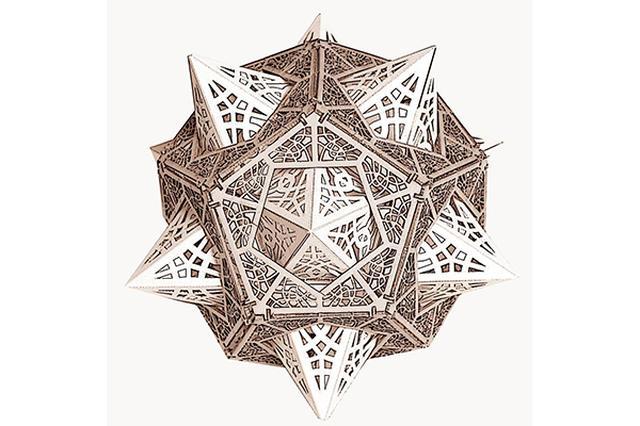 画像: 自分でつくるから楽しい♩幾何学模様がオシャレな3Dオブジェが美しい