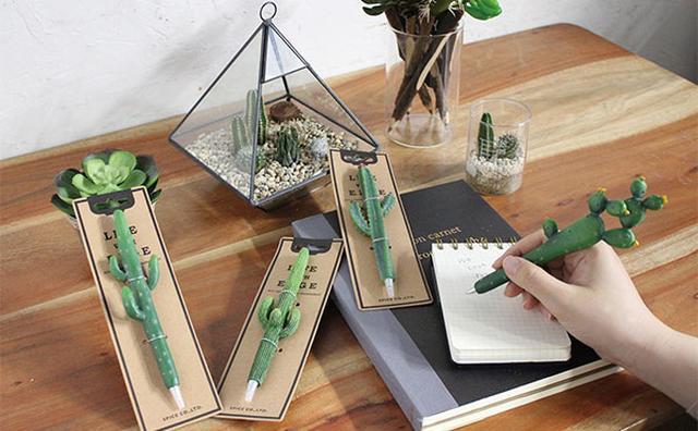 画像: リアルな見た目にドキッ☆卓上に癒しをもたらすミニチュアのサボテンペン