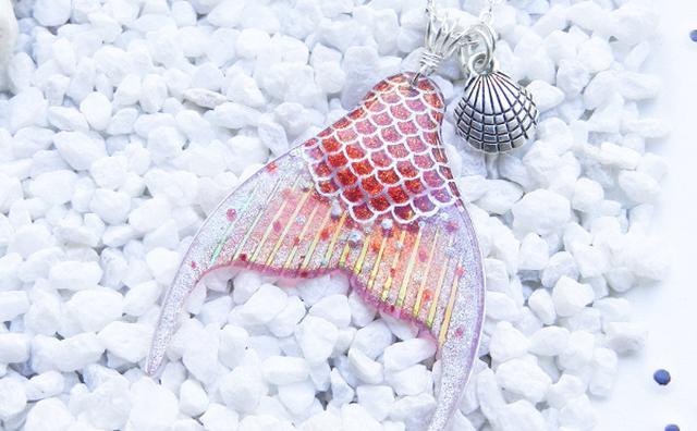 画像: 夏にぴったり♩マーメイドの尾びれみたいな手作りアクセサリーがロマンティック