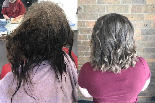 画像: うつ病で髪をとかしていなかった少女、美容師が13時間かけて笑顔に