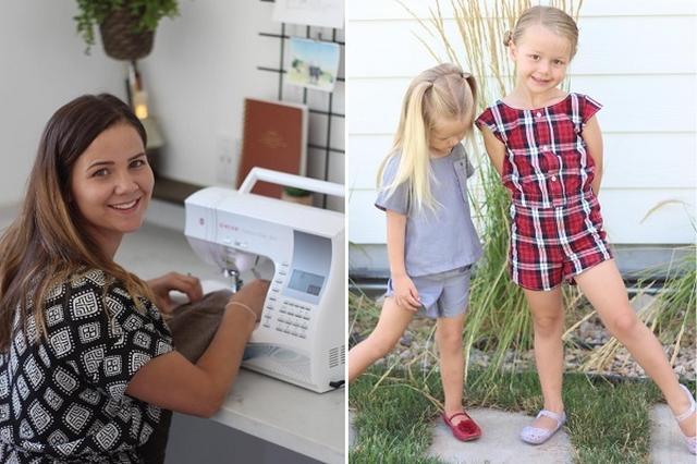 画像: ミシンで産後うつを克服した女性が、2人の娘に作る子ども服に絶賛の声