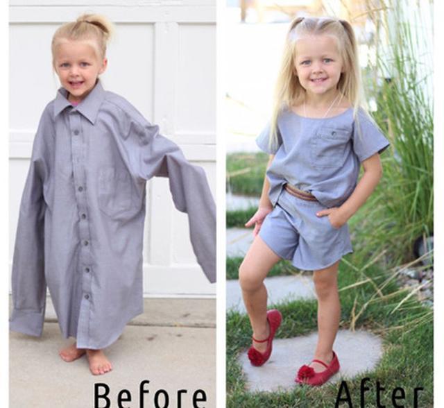 画像: パパのシャツがかわいいドレスに大変身!リメイク上手なママのインスタが大人気