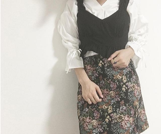 画像: GUのゴブランスカートで作る冬先取りコーデ♡スタイルUP見えもにも期待大!