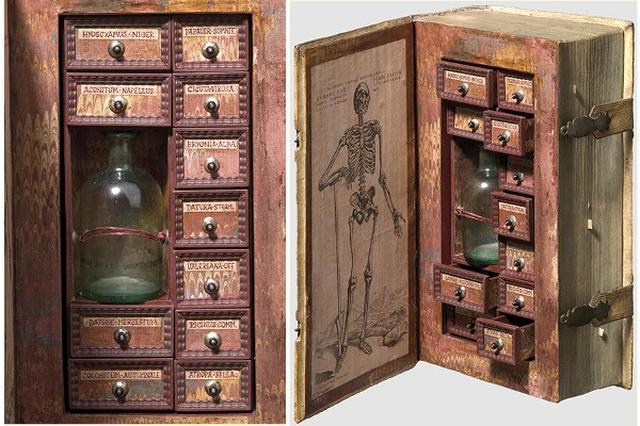 画像: 16世紀の暗殺者のもの?骸骨を描いたおしゃれな薬箱