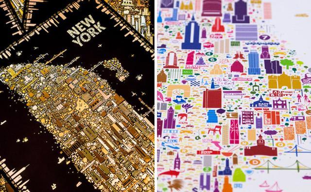 画像: これ地図なの!?街の魅力を最大限に表現したニューヨークのマップがオシャレ♡