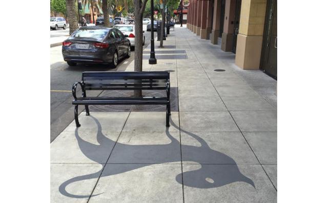"""画像: 街の至る所に出現!思わず童心に返るサンフランシスコの""""影絵アート""""に夢中♪"""