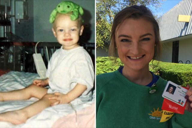 画像: 幼少時がんを2度克服した女性が、治療を受けた病院の看護師として就職