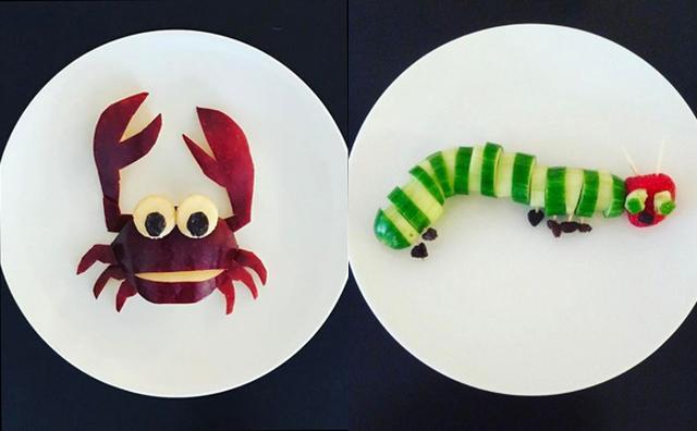 画像: 好き嫌いの多い息子のため...ママがつくった生き物モチーフの朝食プレートが芸術的!