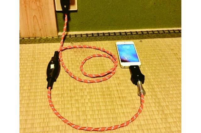 画像: 1日100件の問合せ!昭和感が漂う「コタツ線スマホ充電ケーブル」が話題