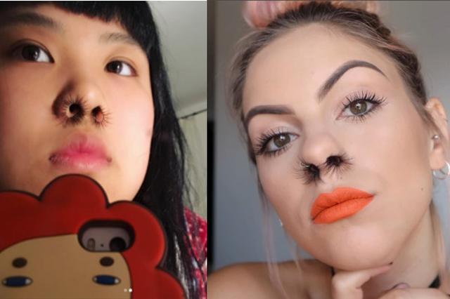 画像: なぜそこまで...「鼻毛エクステ」した女性の画像がSNSで拡散