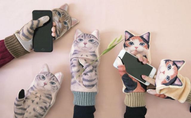 画像: かまってアピールのニャンコにキュン♡かわいすぎるスマホ対応手袋がこの冬登場♪