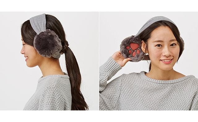 画像: モフモフおててで耳がポカポカ♡フェリシモがねこの肉球付きイヤマフで夢のシチュエーションを実現!