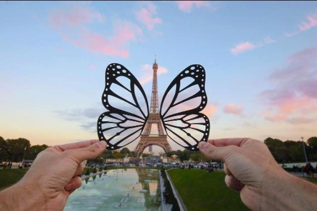 画像: 紙切れ1枚で世界の観光名所が変身!旅するカメラマンの発想がステキ