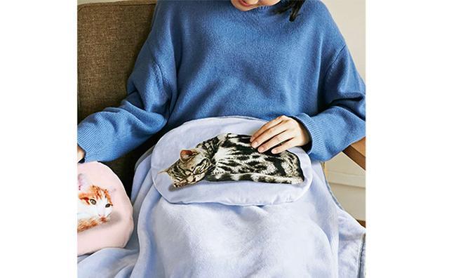 画像: ねこ好きのハートをズキュン♡ニャンコがお膝の上でくつろぐブランケットがフェリシモ猫部に登場