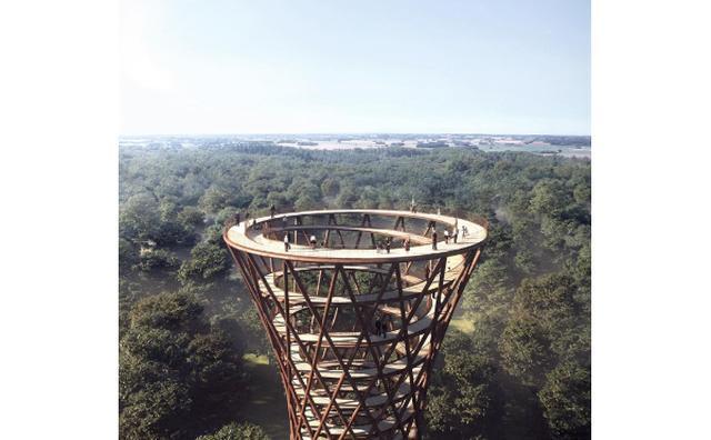 画像: 高所恐怖症の人は要注意!デンマークに建設予定の高さ約600メートルの木製の塔がスリル満点