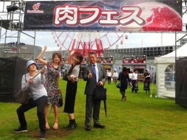 画像: フォーリンデブさん桃ちゃん田中里奈ちゃん「2015年 TOKYO 秋 肉フェス」@お台場 開会式