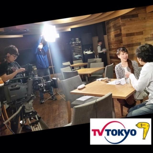 画像: レストランでテレビ収録〜