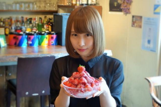 画像: 元NMB48の島田玲奈さんがオーナーの『saq*cafe(サクカフェ)』の苺山かき氷@大阪心斎橋