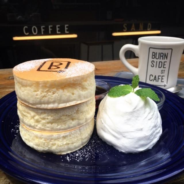 画像: パンケーキの取材