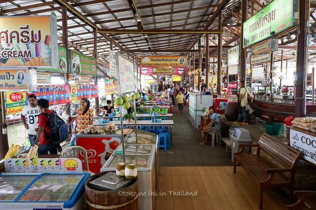 画像: ダムヌンサドゥアック水上マーケット (タイ)