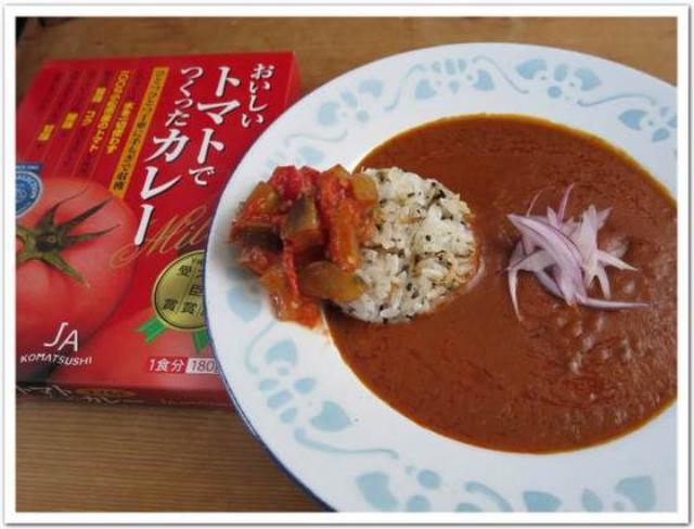 画像: カレーですよ2347(レトルト JA小松市 おいしいトマトでつくったカレー マイルド)これは応用範囲が広い。