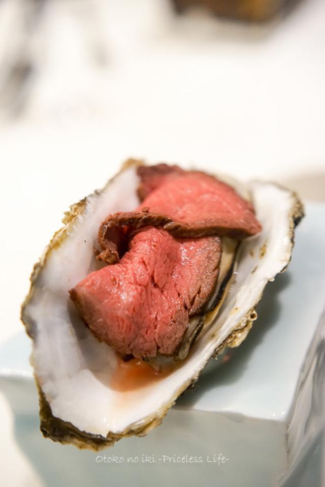 """画像: KABCO (六本木一丁目)海と陸の旨味のセッション""""牡蠣肉""""を食らう"""