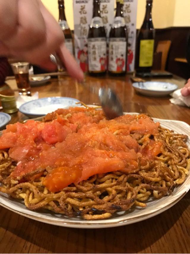 画像: トマト焼きそば 帆 馬喰町 食べあるキング 中央アジア分科会でした