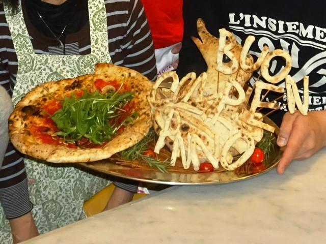 画像: 亀戸「リンシェメ」で自分の誕生日サプライズピッツァを焼く!