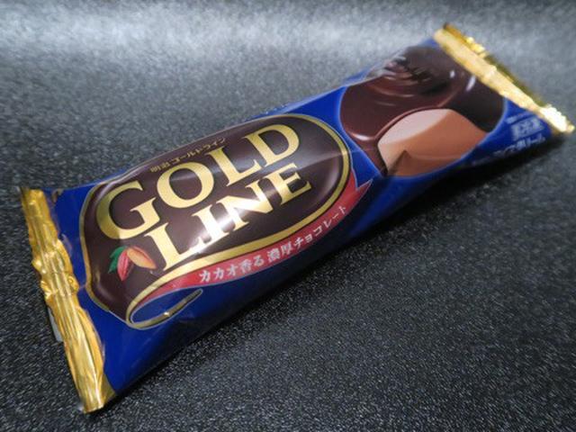 画像: コンビニアイス・meiji GOLD LINE チョコレート