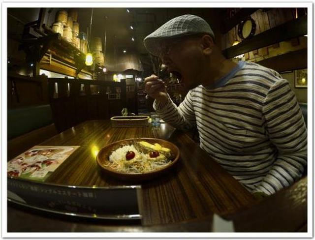 画像: カレーですよ4295(箱根ヶ崎 びっくりドンキー)深夜、ばってんのハンバーグ。