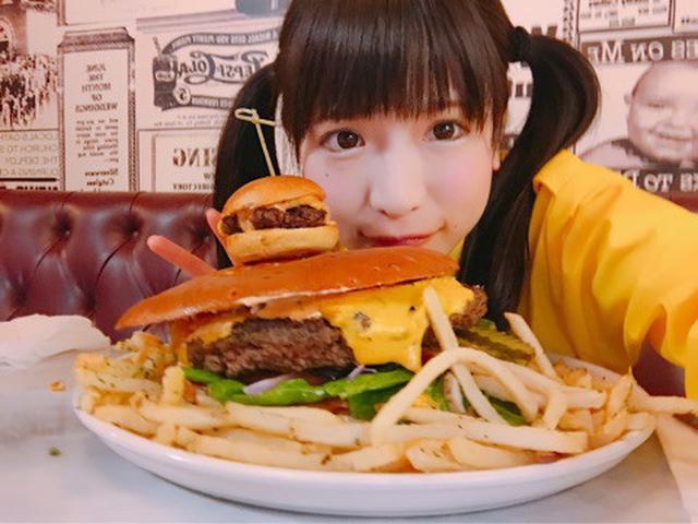 画像: ハンバーガー食べまくり♡