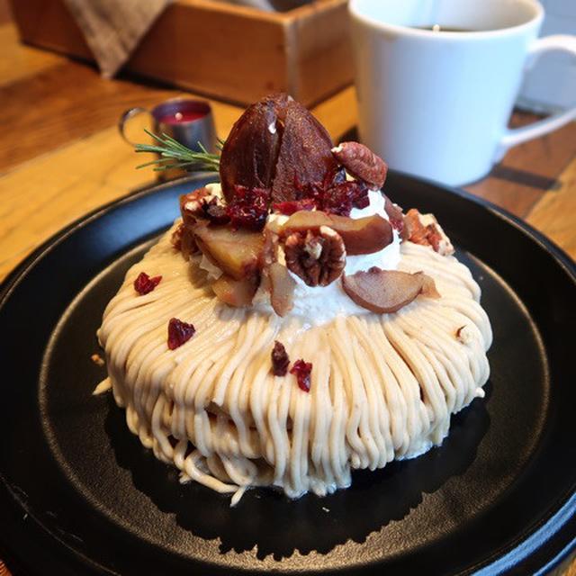 画像: J.S. PANCAKE CAFE 和栗のモンブランパンケーキ