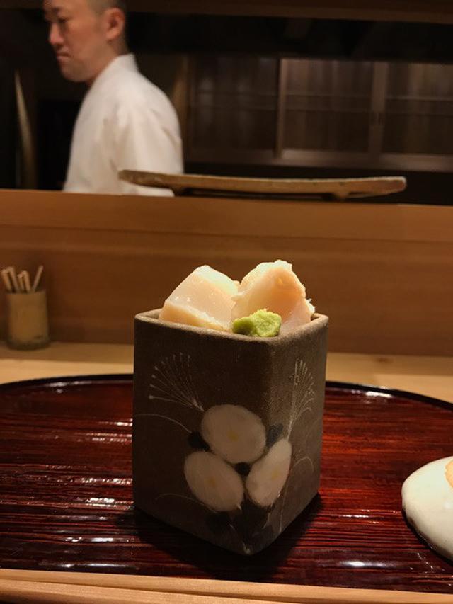 画像: 超!予約困難 お鮨「東麻布 天本」おつまみ14.握り16. 卵 .画像