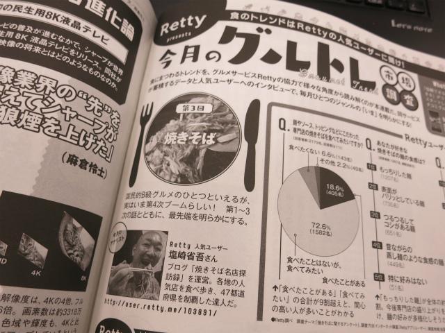 画像: 【雑誌掲載】Get Navi 12月号 「今月のグルトレ市場調査」 -