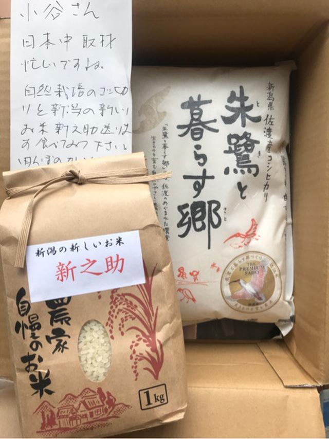 画像: 佐渡の齋藤さんから新潟の新しいお米「新之助」が届きましたー!きらめく大粒、コクと甘み