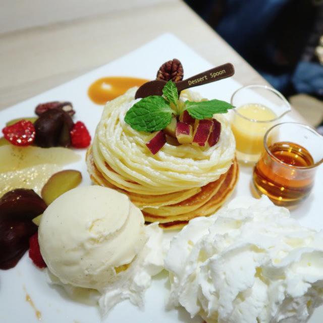画像: 品川プリンスホテル コーヒーラウンジ マウナケア・お芋のモンブランパンケーキ