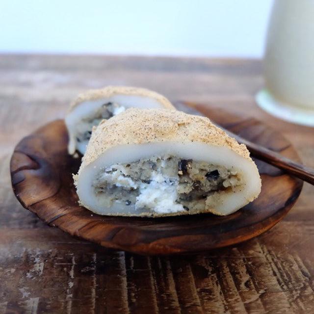 画像: ローソン・丹波黒豆が入った純生クリーム大福