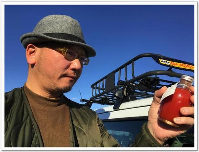 画像: カレーツーリズム北海道 アンテプリマ アイコトマト のトマトジュース。