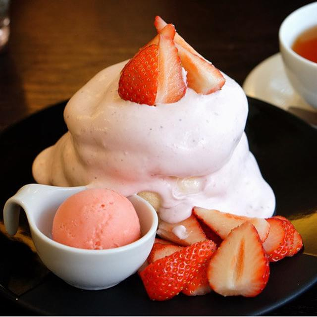 画像: 北千住 茶香(ちゃか)・絶品いちごパンケーキ