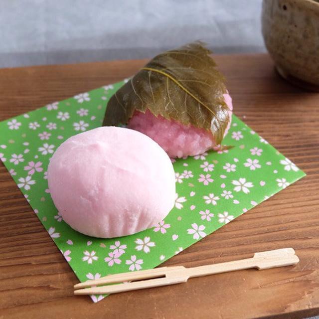 画像: ファミリーマート・桜餅&苺クリーム大福