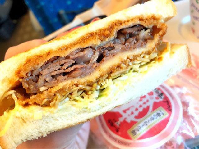 画像: 京都からの新幹線で、カツサンド食べ比べ