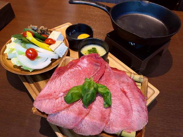 画像: 新登場の牛タンの洋風すき焼きは新感覚の美味しさでワインとの相性が抜群です! 本町 「MEAT DINING River:Ve (リバーベ)」