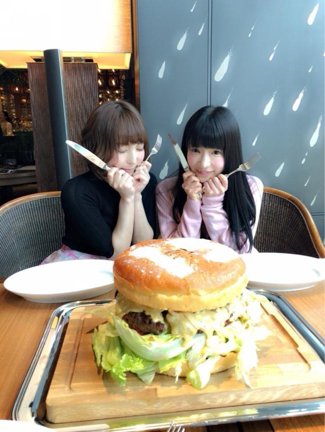 画像: 巨大ハンバーガー♡